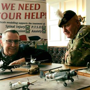 Veterans Hub in North Wales surveying the fantastic work.